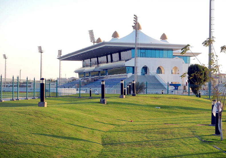 racing and equestrian club grand stand